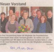 RN vom 13.4.2011 - Neuer FKH-Vorstand